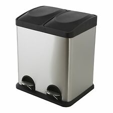 Morgan TWIN COMPARTMENT PEDAL BIN 2×15L Stainless Steel,Easy Cleaning & Emptying