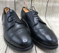 Allen Edmonds Black Leather Cap Toe Oxford Comfort Soles Shoes Men's 10.5 C