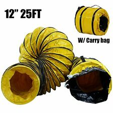 """MOUNTO MT1225B  12"""" 25FT Ventilation Duct PVC Ducting Hose with Carrying Bag"""