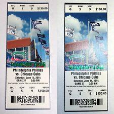 Jimmy Rollins Breaks Phillies Hit Record 6/14 UNUSED MINT Ticket DIAMOND CLUB