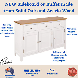 NEW Sideboard or Buffet made from Solid Oak and Acacia Wood