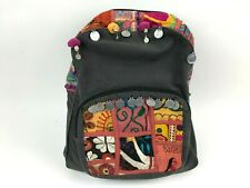 EARTHBOUND Trading Co Gray Backpack BOHO Ethnic Embroidered Artsy Eclectic