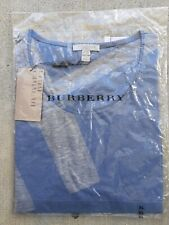 BURBERRY BRIT TOP SWEATER. XL. Steel Blue and light grey.