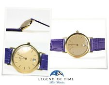 Maurice Lacroix 18K Yellow Gold Watch Ladies Elegant Date Champagne dial 85634