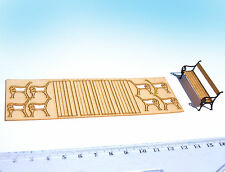 1:35 Miniature Bench kits O scale, laser cut model train station, diorama scene