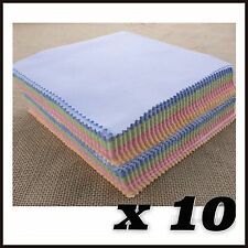 10 X Microfibre Cleaning Cloths Glasses Spectacles Camera Mobile Phone Lens