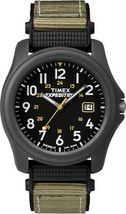 Timex Mens Expedition Watch T42571 Nylon strap, Indiglo Night Light & Date