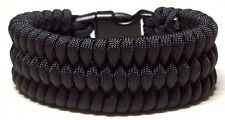 Black Trilobite Weave Survival Wear Handmade Custom Sized Paracord Bracelet