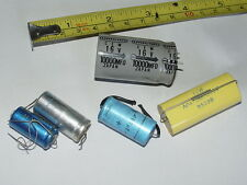 5x Vintage WIMA / HUNTS 100uF 25V / UNICON Capacitors