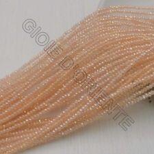filo di cristalli sfaccettati cipollotti rondelle ROSA CHIARO 1.5 x 2.5 mm circa