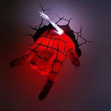 Marvel Avengers Spider Man Hand Art Fx Room Decor 3D Deco Wall Led Night Light