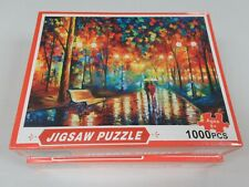JIGSAW PUZZLE 1000 PIECES RAINY WALK IN THE PARK COUPLE CUTE - NEW SEALED