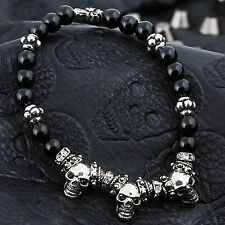 Guntwo Korean Mens Fashion Bracelets - Biker, Hip Hop Skull Bracelet B3201 US