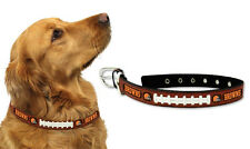 Cleveland Browns Medium Leather Lace Dog Collar [NEW] Pet Cat Lead CDG NFL