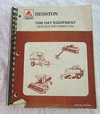 Hesston AGCO Farm Hay Equipment Service Information Catalog Manual