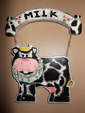 """Country Cow Wooden Wall Hanging - 10"""" x 8"""""""
