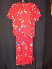 SAG HARBOR 2pc DRESS Top Skirt  Women's Size Medium Large EUC