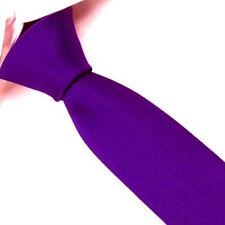 Blue violet 100% Silk Man's Wedding Groom Solid Skinny Slim Tie Necktie SK11