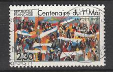 Timbre français oblitéré - Centenaire du 1er mai  YT2644 année 1990