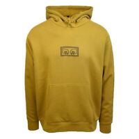 Obey Men's Dark Mustard Centred All Eyez L/S Pull Over Hoodie (Retail $68)