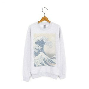 Men's 'The Great Wave off Kanagawa' Katsushika Hokusai Japanese Art Sweatshirt