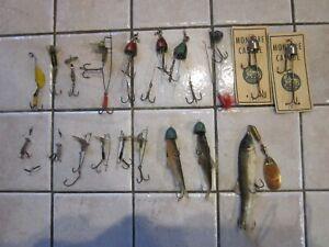 lot de leurres anciens et monture poisson mort ancienne
