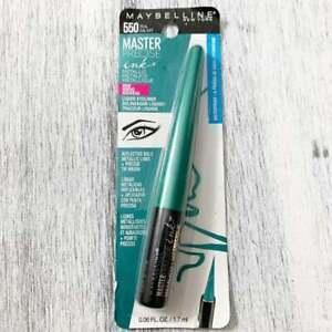 Maybelline Waterproof Teal Galaxy 550 Master Precise eyeliner makeup cosmetic