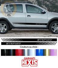 2 door sill strip for dacia sandero stepway deco door sticker bd500-12