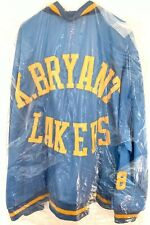 Kobe Bryant Rare 96-97 Mitchell & Ness Satin Warm Up Jacket Blue Yellow XL (56)