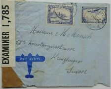 Belgian Congo 1941 Airmail Cover To Switzerland With British Pc 90 Censor Label