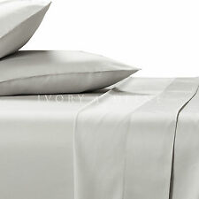100% BAMBOO SHEET SET 400TC Queen Size Luxe Silver Smooth Soft & Anti Bacterial