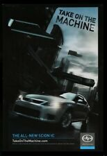 Orig 2010 TOYOTA SCION tC 3D LENTICULAR TAKE ON THE MACHINE MOVIE THEATRE POSTER