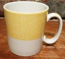 """Spode VERMICELLI YELLOW Mug, 3 1/4"""", S3637, Mottled Band Rim, New with tags, NWT"""