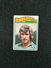 Topps Footballers 1978  orange   BACK   PETER BONETTI     CHELSEA    CARD 184