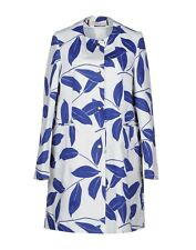 NWT MARNI Blue Leaf Printed Cotton Jacket Coat US 4 Made in Italy Authentic