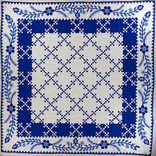 Blue & White Double Irish Chain - QUILT TOP - Elegant Must See Border Design