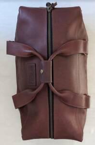 100% Genuine High Quality Leather Duffle Weekender Travel Bag 50L