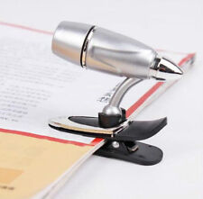 Convenient Adjustable Book Reading LED Clip On Mini Spot Light Lamp For Travel