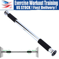 Doorway Chin Up Pull Up Sit Up Push Up Bar Exercise Fitness Workout Gym Silver