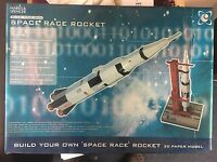 Build Your Own Space Race Rocket 3D Paper Model Marks & Spencer 2003 Rare