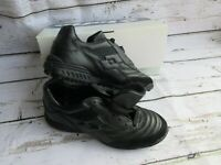 Lotto Men Arbitro SecTurf Soccer Shoe Cleat Black Leather 78344 VINTAGE NEW NOS!
