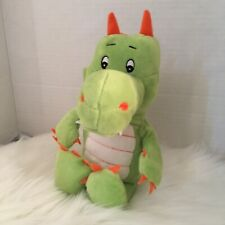 Green Dragon With Wings Plush Kinder Orange Horns And Claws