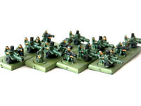 A43 WARHAMMER 40K EPIC IMPERIAL GUARD ARMY- HEAVY WEAPONS PAINTED PLASTIC MODELS