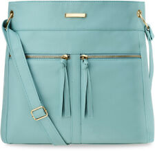 groß Damentasche Handtasche Shopper Schultertasche hellblau