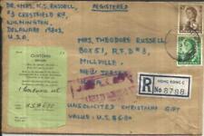 Hong Kong CHINA SG#205,#198 REGISTERED(label) 11/OC/66 to USA,