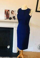 VICTORIA BECKHAM MAINLINE  037 COBALT BLUE DRESS BRAND NEW UK 8