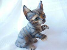 Porcelain Tabby Cat by The Harvey Knox Kingdom House of Global Art H511C82.