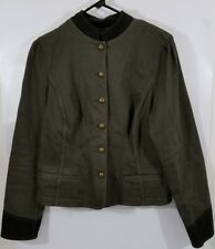 Ralph Lauren LRL Women's Olive Green Button Up Jacket Size 14