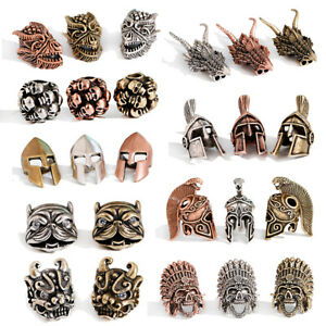 5/10pc Brass Sparta Helmet Crown Beads Bronze Dragon Loose Spacer Beads Craft
