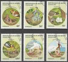 Timbres Oiseaux Bénin 708AN/AT o lot 16357